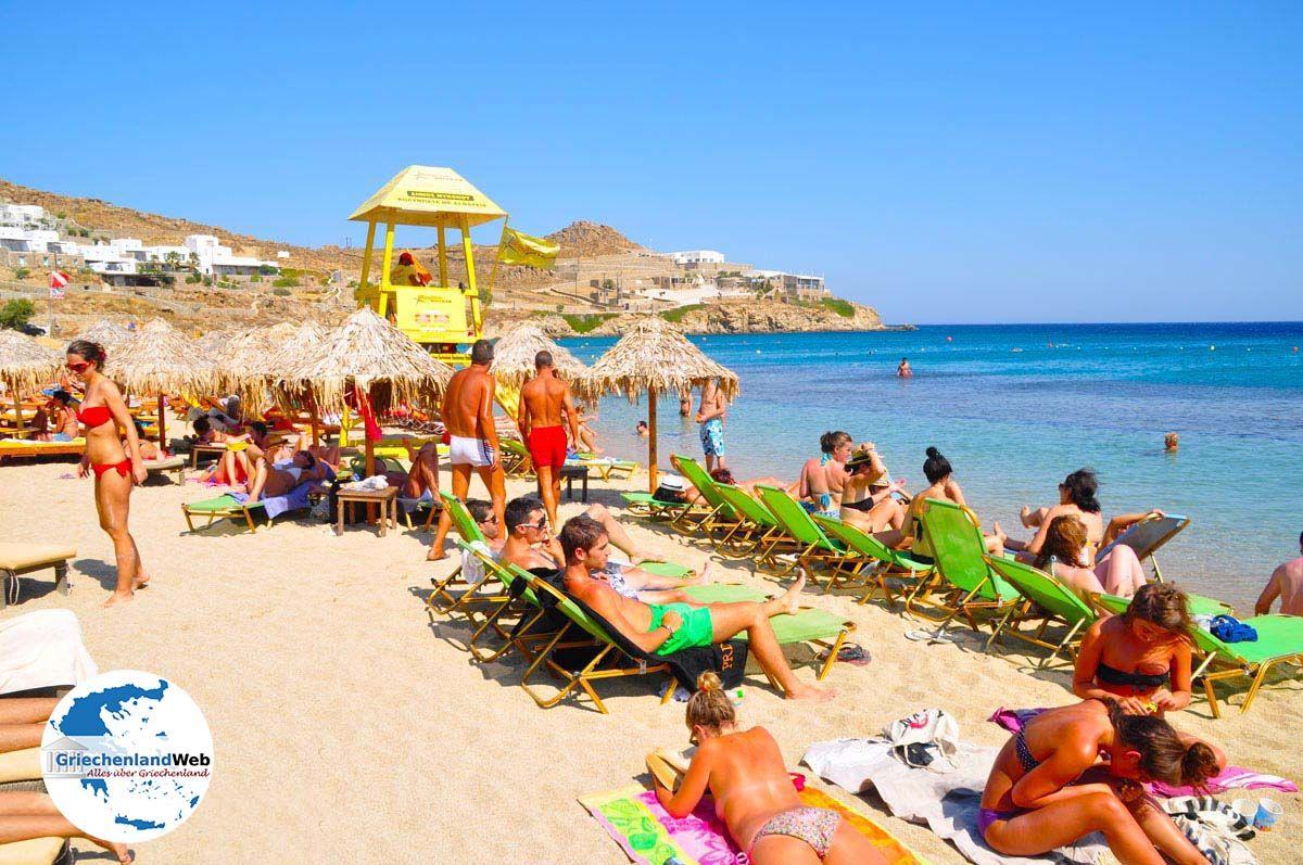 Paradise Beach Mykonos   Urlaub in Paradise Beach Griechenland