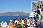 GriechenlandWeb.de Aankomst met boot auf Santorin | Op de achtergrond Firostefani und Fira - Foto GriechenlandWeb.de