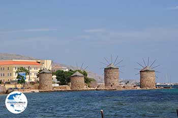 De 4 molentjes Chios Stadt - Insel Chios - Foto von GriechenlandWeb.de
