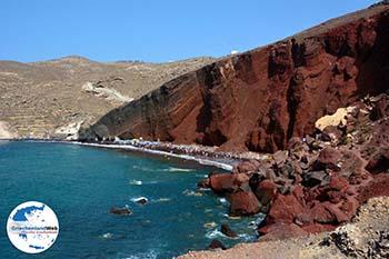 Red Beach Akrotiri Santorin | Kykladen Griechenland | Foto 191 - Foto GriechenlandWeb.de