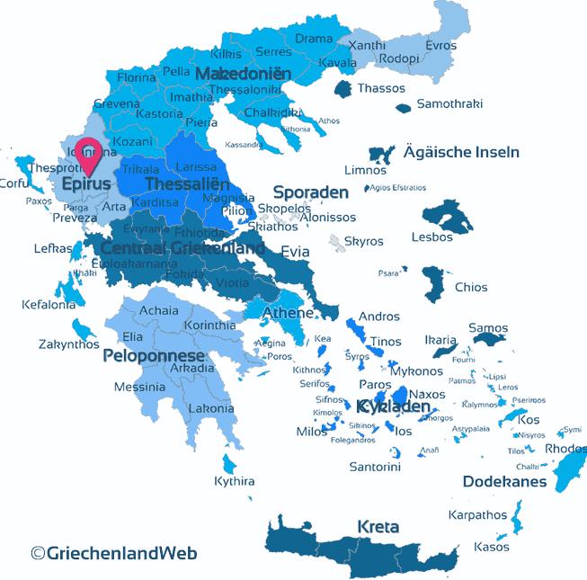 Karte Epirus