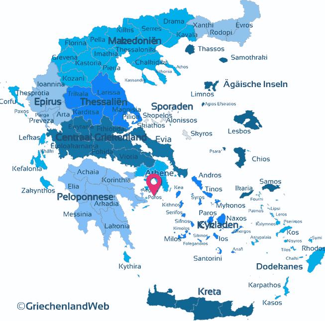 Karte Saronische Inseln