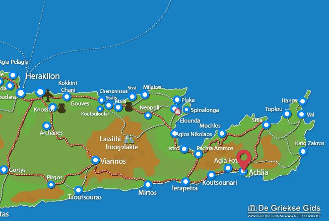 Karte Achlia