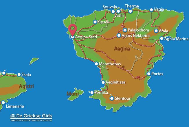 Karte Aegina Stadt