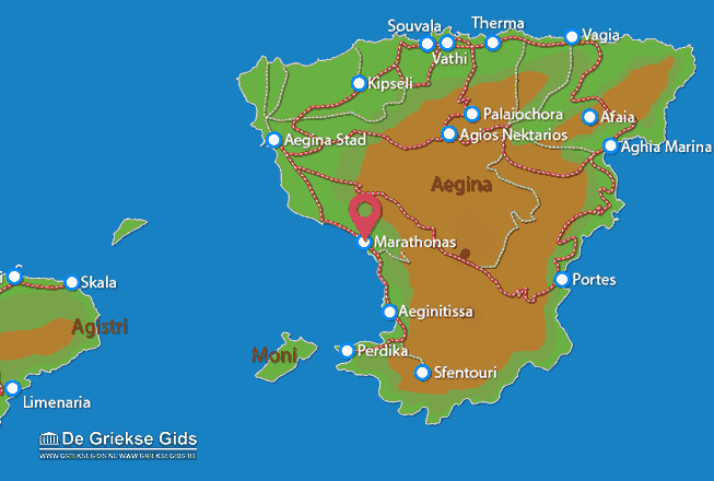 Karte Aeginitissa