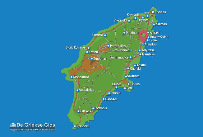 Karte Afandou