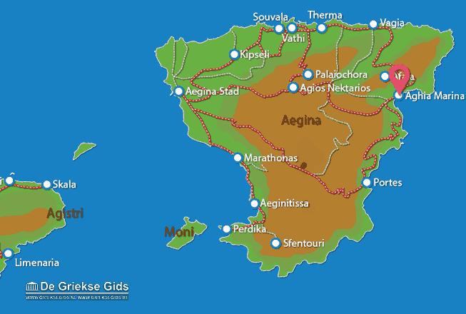 Karte Aghia Marina