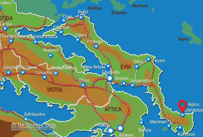 Karte Aghios Dimitrios