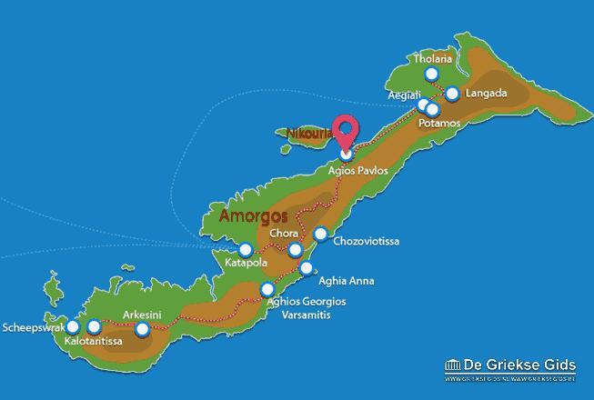 Karte Aghios Pavlos