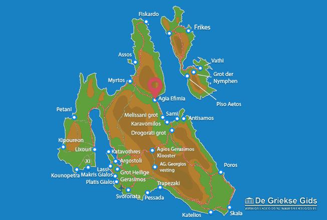 Karte Agia Efimia