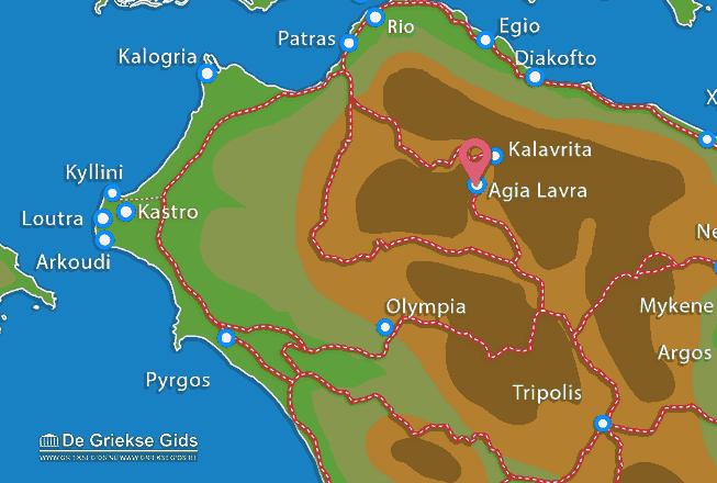 Karte Agia Lavra