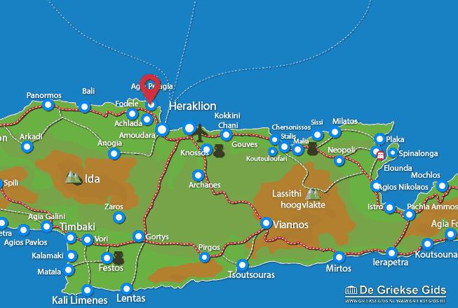 Karte Agia Pelagia