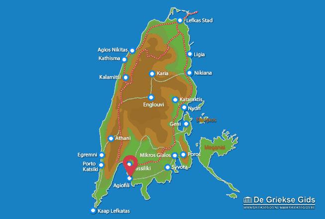 Karte Agiofili