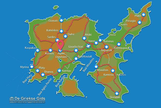 Karte Agios Dimitrios