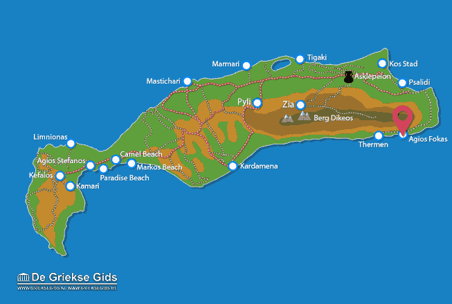 Karte Agios Fokas