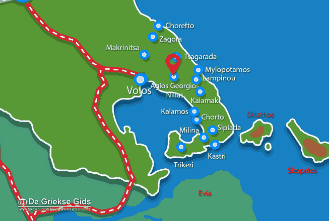 Karte Agios Georgios Nilias Pilion