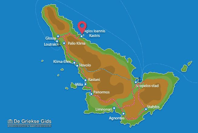 Karte Agios Ioannis Kastri