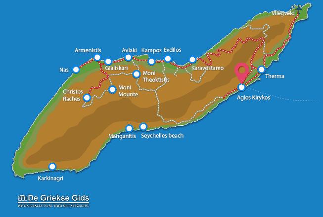 Karte Agios Kirykos