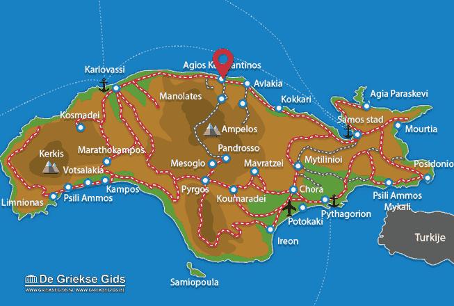 Karte Agios Konstandinos