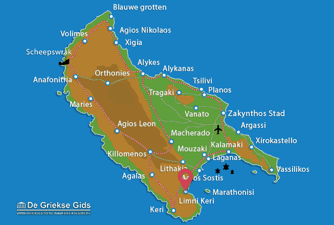 Karte Agios Sostis