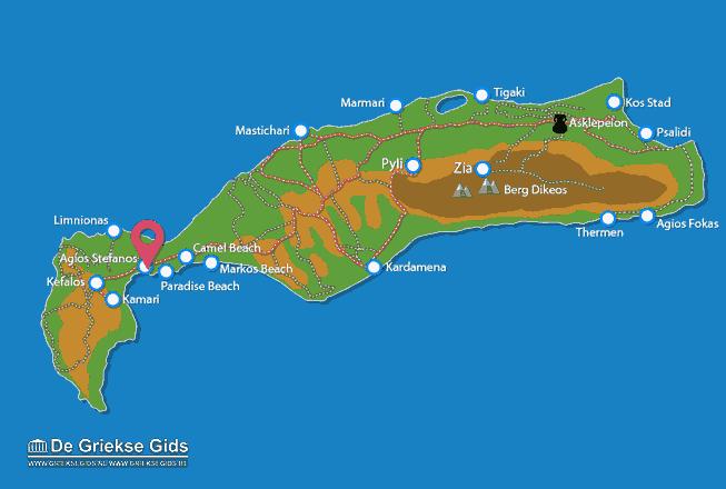 Karte Agios Stefanos