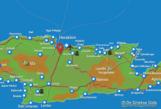 Karte Agios Thomas