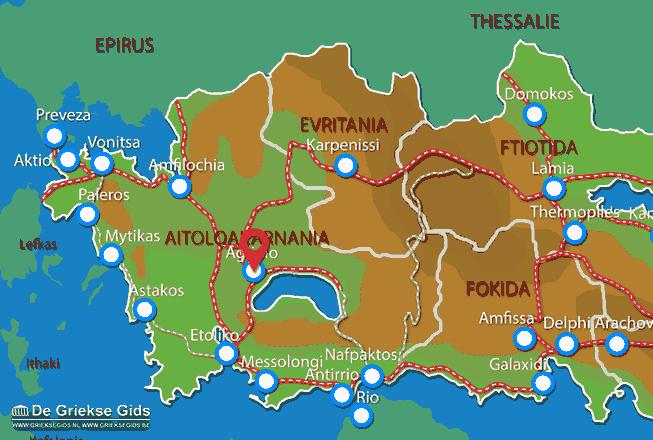 Karte Agrinio