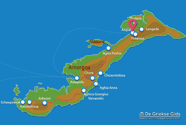 Karte Aigiali