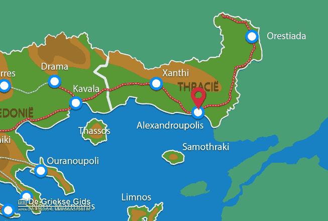 Karte Alexandroupolis