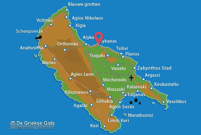 Karte Alykanas