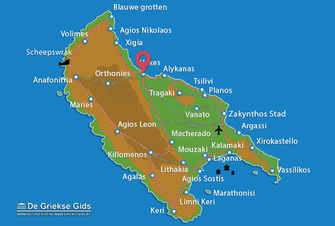 Karte Alykes