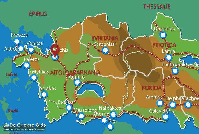 Karte Amfilochia