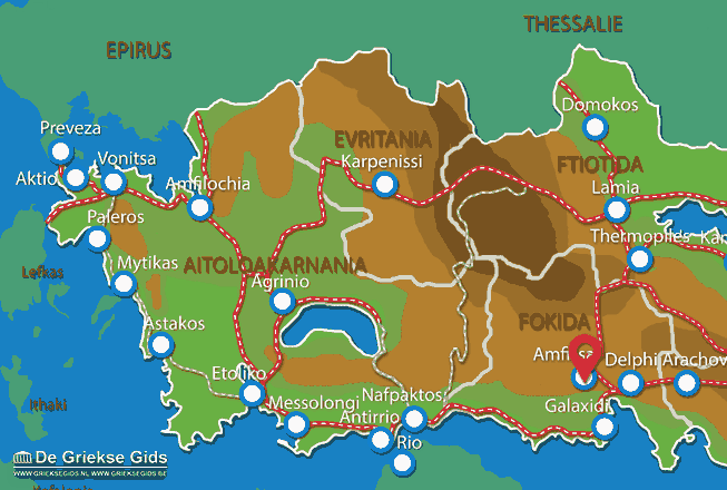 Karte Amfissa
