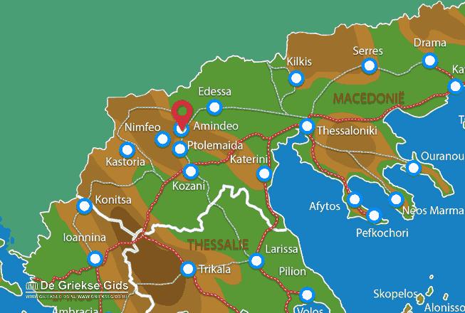 Karte Amindeo