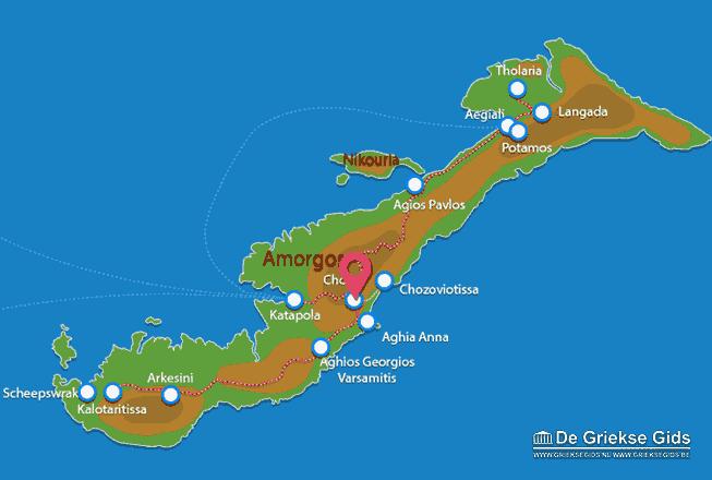 Karte Amorgos Stadt