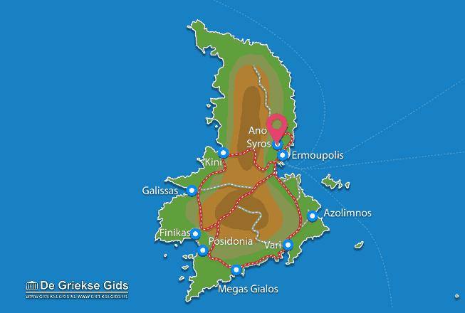 Karte Ano Syros