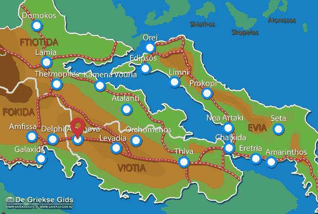 Karte Arachova
