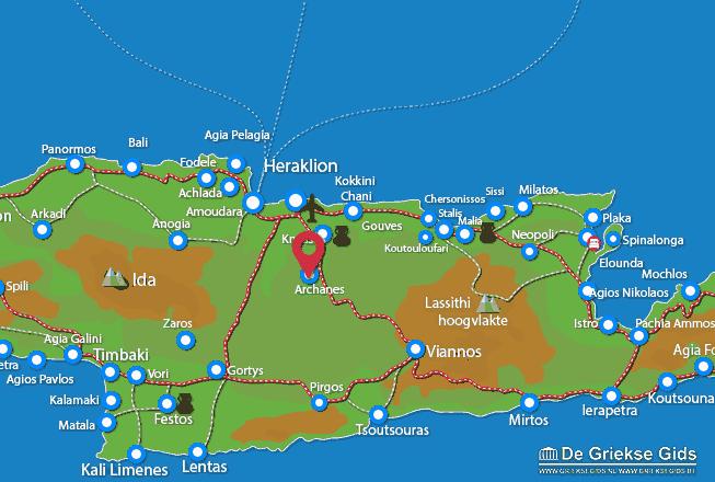 Karte Archanes