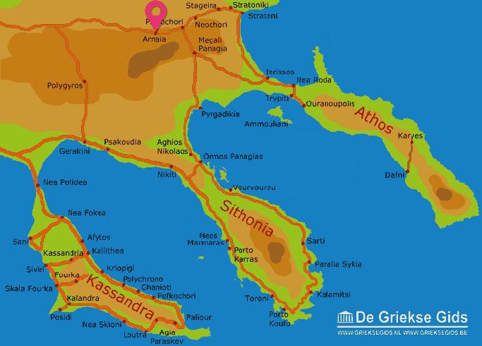 Karte Arnaia