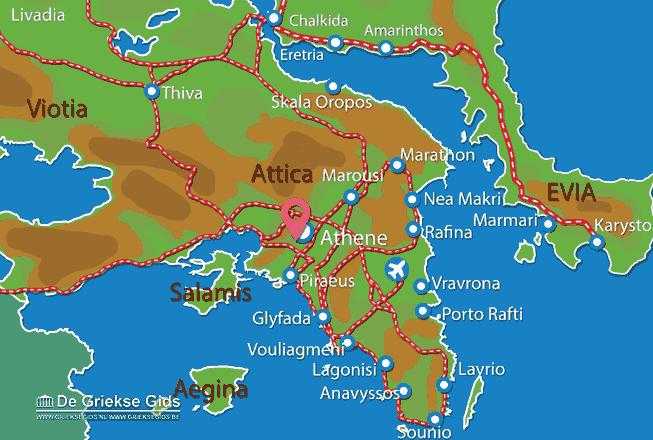Karte Athen