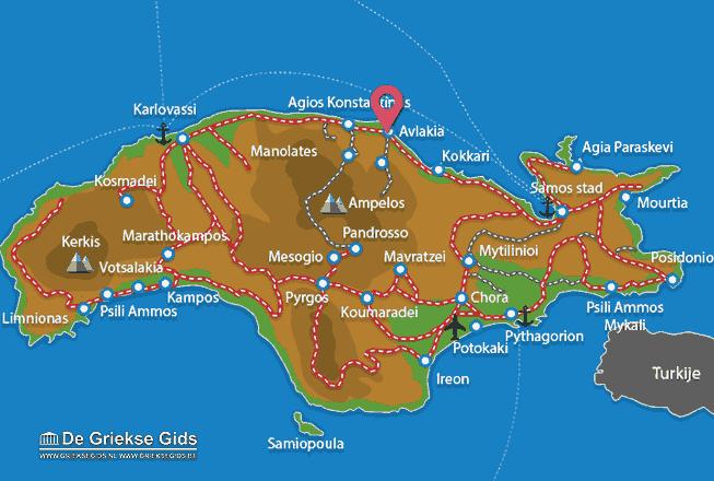 Karte Avlakia