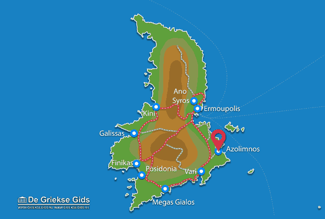 Karte Azolimnos