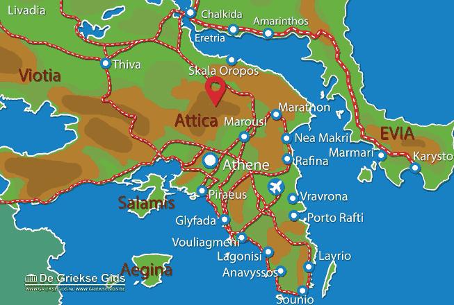 Karte Parnitha