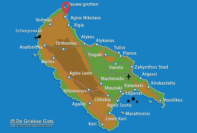 Karte Blaue Grotten