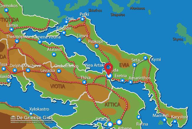 Karte Chalkis
