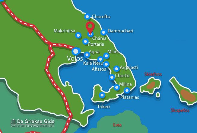 Karte Chania Pilion