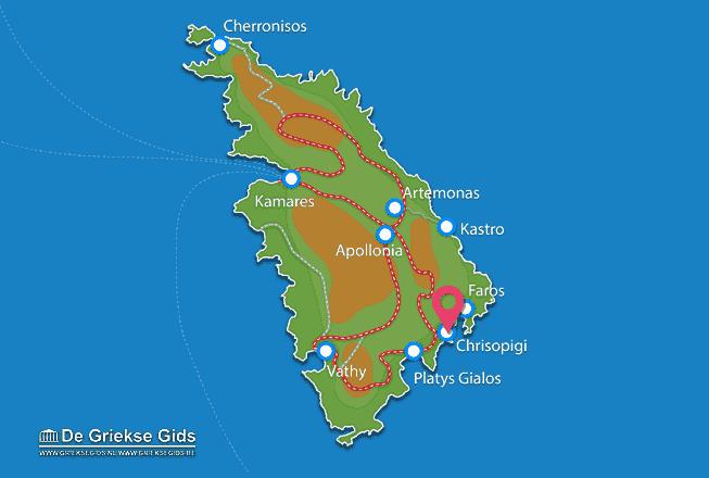 Karte Chrisopigi