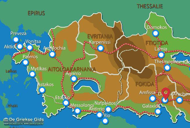 Karte Delphi