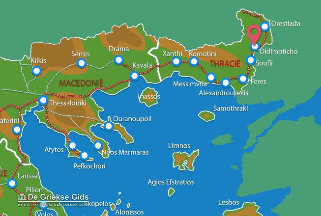 Karte Didimoticho