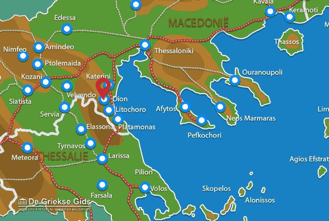 Karte Dion